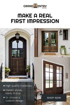 Dream House Exterior, Exterior House Colors, Exterior Doors, Exterior Design, Home Exterior Makeover, Exterior Remodel, Entry Doors, Front Doors, Entryway
