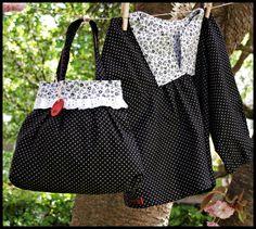 Eine zuckersüße Handtasche wie gemacht für kleine Mädchen.   Mit den süßen Polkadots wirkt sie unglaublich elegant, dennoch romantisch und verspiel...
