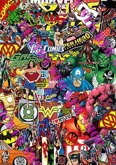 Sticker Bomb Marvel Dc Comics Euro Drift Vinyl Decal Vw Golf Dub Superman Batman