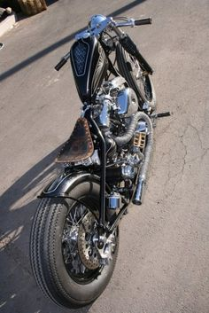 Bobber Inspiration | Shovelhead custom bobber | Bobbers and Custom Motorcycles