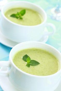 #recette de la soupe froide de concombre au basilic !