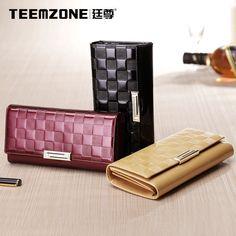 Lady Women Leather Embossed Sequin Evening Handbag Long Purse Phone Wallet   #teemzone #Clutchwallet