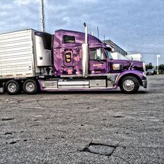 bigtruck trucking truckinglife roadlife truckersjourney purpletruck