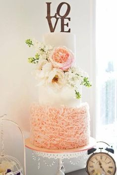 Romantic ruffles  A new wedding trend to hit 2015 is layers of delicate edible ruffles adorning your cake. Designed to be a sumptuously whimsical vision of romance, if you're having a fairytale wedding, this could be the stylish edge you need.