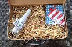 USA Reisekoffer DIY mit Flaschenpost (Tickets Empire State Building und weiteren kleinen USA Überraschungen)