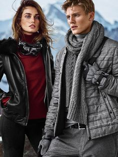 Mikkel Jensen and Andreea Diaconu by Hunter & Gatti for the Massimo Dutti's Apres Ski limited collection Fall Winter 2015 Campaign