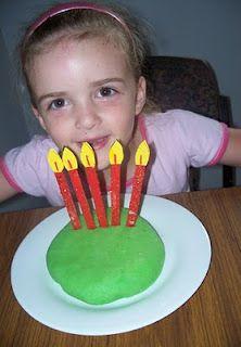 Craft stick birthday candles...