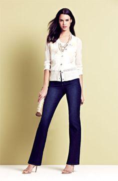 NYDJ 'Barbara' Jeans, Nic + Zoe Cardigan & Tank | Nordstrom