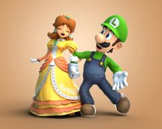 Super Mario Bros, Mundo Super Mario, Nintendo Super Smash Bros, Mario Fan Art, Mario Bros., Mario And Luigi, Princesa Daisy, Mario Funny, Luigi And Daisy