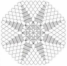 Crochet Blocks, Crochet Doily Patterns, Granny Square Crochet Pattern, Crochet Diagram, Crochet Chart, Filet Crochet, Crochet Doilies, Crochet Flowers, Crochet Wool