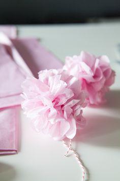 Oh-So-Very-Pretty Tissue Pom-Pom Garland