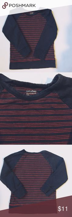 Gap Playtime Favorite Tee Very Good used condition. Navy and Red color. GAP Shirts & Tops Tees - Long Sleeve