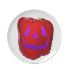 Purple Glow Red Bell Peppolantern Plates
