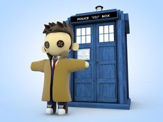 10th Doctor Plushie Doll mock-up.