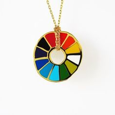 Color Wheel Necklace now featured on Fab.