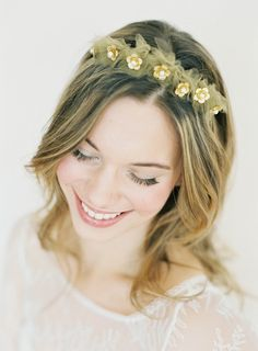 gold flower tulle crown hushed commotion.jpg
