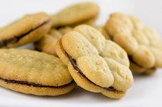 Peanut Butter Cookie Press Sandwiches