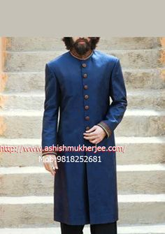 54262630aa6ad Ashish Mukherjee offers the best wedding sherwanis for men at affordable  prices. We have a