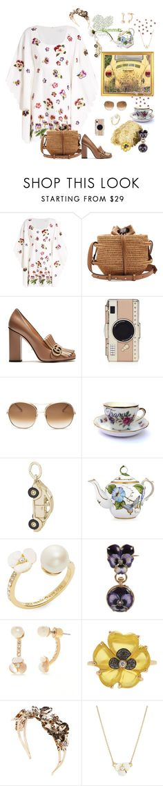 """""""Summer Bug"""" by juliabachmann ❤ liked on Polyvore featuring Andrew Gn, Khokho, Gucci, Kate Spade, Chloé, Rembrandt Charms, Anna Weatherley, Christina Debs and Vittorio Ceccoli"""