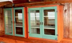 vintage style cabinets made for Redwood Roots Farm on Jacoby Creek