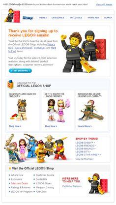 #Lego #EmailDesign #WelcomeEmail