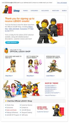 #Lego #EmailDesign #WelcomeEmail