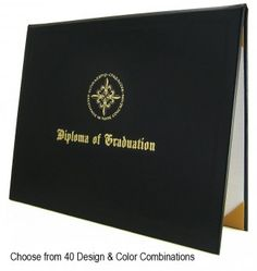 Choose from 32 color/design options for your diploma cover.