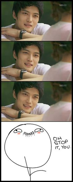 Haha jaejoongy its cute he is hot and I would so say this lol