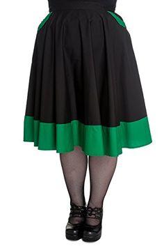 Hell Bunny Plus Size 50's Green Black Vampiress Bat Gothic Punk Rockabilly Skirt (2X) Hell Bunny http://www.amazon.com/dp/B00XAOX4XI/ref=cm_sw_r_pi_dp_VF-zvb1RC4VPV