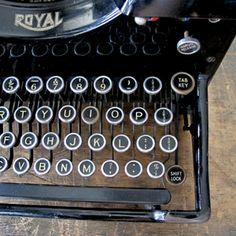 "Original ""Royal"" Typewriter | quintessential duckeggBLUE"