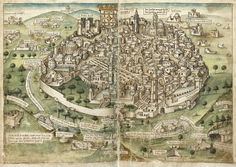 Jerusalem / Amazing Maps of Medieval Cities – Earthly Mission