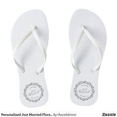 3ba50f55f891c8 31 Best Just Married Flip Flops   Wedding Flip Flops images