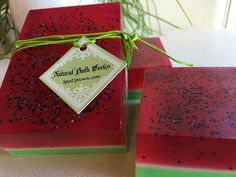 SALE-WATERMELON square Soap Handmade by SPA