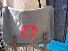 A personal favorite from my Etsy shop https://www.etsy.com/listing/165363755/sage-vintage-military-canvas-medic
