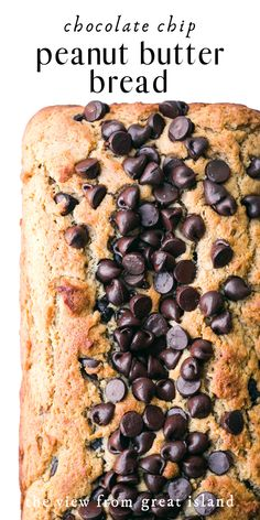 Feb 2020 - Peanut Butter Chocolate Chip Bread is the perfect quick bread.moist, peanutty, and loaded with chocolate chips! It makes an indulgent breakfast or snack. Peanut Butter Banana Bread, Peanut Butter Smoothie, Peanut Butter Desserts, Chocolate Chip Banana Bread, Banana Bread Recipes, Chocolate Peanut Butter, Chocolate Chips, Peanut Butter Cake Roll Recipe, Chocolate Chip Quick Bread Recipe