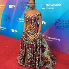 India Aire in an ankara inspired dressed. Made by her mom