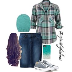 Apostolic Fashions #518 by apostolicfashions on Polyvore featuring maurices, Uniqlo, Converse and Whistles