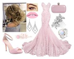 """Pretty in Pink"" by books-bands-love ❤ liked on Polyvore featuring ABS by Allen Schwartz, I. MILLER, Alexander McQueen, Christian Louboutin and Jon Richard"