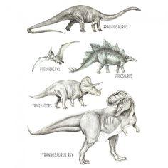 Affiche dinosaures (A3) : Love Maé - Berceau Magique