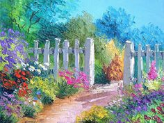 Dreamy Provence - Jean Marc Janiaczyk Landscape Paintings - White fence - Beautiful Provence Landscape Paintings 1600*1200 17