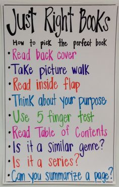 students often find it difficult to remember to check a book before taking it out of the library, so they need constant reminders about how to choose a book that is good for them.