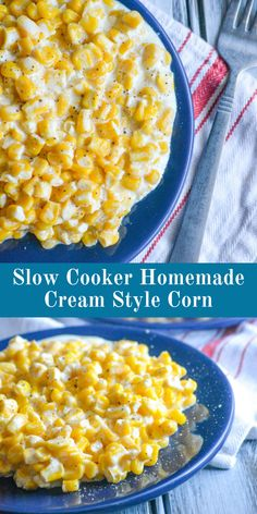 Kick the canned habit and go with this Slow Cooker Homemade Cream Style Corn instead. Golden corn kernels in a sweet cream sauce slow cooked to perfection- you'll never regret including this delectable 6 ingredient side dish on your dinner menu. Side Recipes, Easy Dinner Recipes, Paleo Recipes, Crockpot Recipes, Cooking Recipes, Cream Corn Crockpot, Cream Corn Recipe Crock Pot, Crock Pot Corn, Creamed Corn Recipes