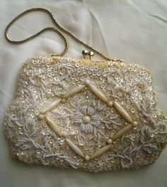 Vintage beaded purse- I believe this belonged to Chrysanthemum or Fancy Nancy. (jk, but think children's books for references)