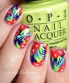 Tropical Floral Nail