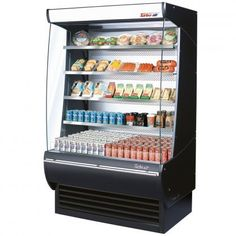 Turbo Air TOM36DXSPA 36 Extra Deep Display Merchandiser with Automatic Condenser Cleaning System Advertising Panel Solid Side Panel AntiRust Coating BackGuard and Glass Sides Black Ext and *** You can find more details by visiting the image link. (This is an affiliate link)