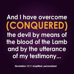 Your Verse of the Week for November 4 - 10, 2013!  Isn't it great to know that we, through Yeshua, have conquered the devil?