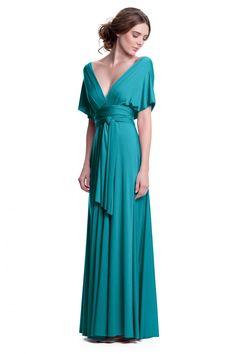 Sakura Turquoise Teal Maxi Convertible Dress - Shop ConvertiStyle