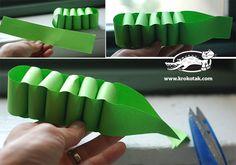 Nosso Espaço da Educação: Artes - Jacaré de papel (passo a passo).