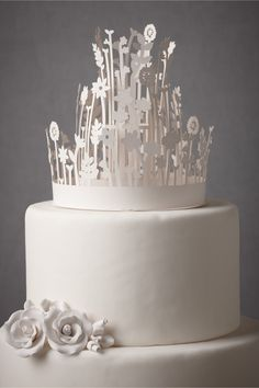 Concentric Crown Cake Topper in SHOP Décor For the Cake at BHLDN