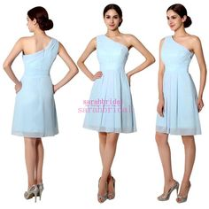2015 Short Bridesmaid Dresses Powder Blue Purple Turquoise Bridal Party Gowns For Beach Maid of Honor Plus Size Personalized Cheap Under 50 Online with $41.46/Piece on Sarahbridal's Store | DHgate.com
